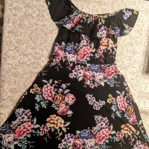 Other - Kiss Girls 14 16 youth teen dress floral black